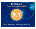 Sofia Residence Booking Award of Excellence